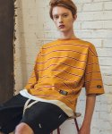 필루미네이트(FILLUMINATE) UNISEX POP Border Layered Tee-Yellow