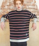 필루미네이트() UNISEX POP Border Layered Tee-Black