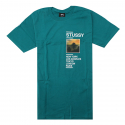 스투시(STUSSY) [스투시] GOLD COAST TEE (DARK TEAL) [1904015-DTEA]