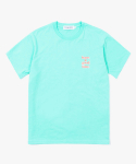 해브 어 굿 타임(HAVE A GOOD TIME) 3D Logo S/S Tee - Aqua