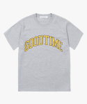해브 어 굿 타임(HAVE A GOOD TIME) Good Time College S/S Tee - Heather Grey