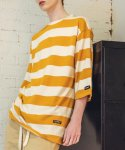 필루미네이트() UNISEX Quarter Border Tee-YELLOW