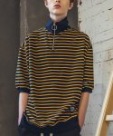 필루미네이트(FILLUMINATE) UNISEX Stripe Half Jip Up-YELLOW