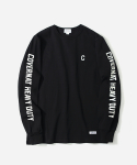 커버낫(COVERNAT) L/S SLEEVE LOGO T-SHIRTS BLACK