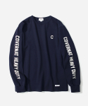 커버낫(COVERNAT) L/S SLEEVE LOGO T-SHIRTS NAVY