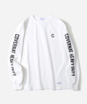 커버낫(COVERNAT) L/S SLEEVE LOGO T-SHIRTS WHITE