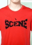 쎈느(SCENE) LOGO PRINTED COTTON T-SHIRTS RED
