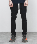 ZIP DENIM PANTS