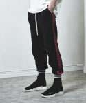 TRACK SWEATPANTS-BLACK(OXBLOOD)