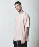디프리크(D.PRIQUE) OVERSIZED BASIC T-SHIRT-PINK