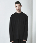 디프리크(D.PRIQUE) OVERSIZED LONG SLEEVE T-SHIRT-BLACK
