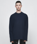 디프리크(D.PRIQUE) OVERSIZED LONG SLEEVE T-SHIRT-NAVY