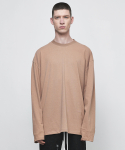디프리크(D.PRIQUE) OVERSIZED LONG SLEEVE T-SHIRT-RUST