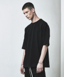 디프리크(D.PRIQUE) OVERSIZED T-SHIRT-BLACK