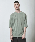 디프리크(D.PRIQUE) OVERSIZED T-SHIRT-MINT GREEN