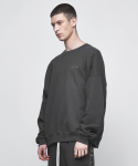 디프리크(D.PRIQUE) OVERSIZED SWEATSHIRT-CHARCOAL