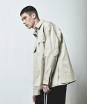 OVERSIZED ZIP SHIRT-LIGHT BEIGE