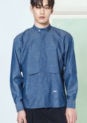 HENLEY-NECK OUTER SHIRTS BLUE