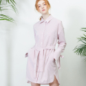 룩캐스트(lookast) PINK SHIRTDRESS