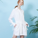 룩캐스트(LOOKAST) WHITE SHIRTDRESS