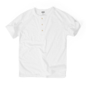 S-SLEEVE HENLEY SHIRTS[WHITE]