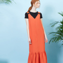 룩캐스트(LOOKAST) ORANGE GOLD RING DRESS