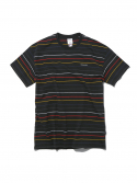 디스이즈네버댓() Multi Striped Tee Black/Yellow