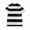 Bold Stripe Short Sleeves T 2525 BLACK
