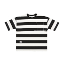 OVERFIT STRIPE t-shirt black