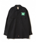 플레져스(PLEASURES) PLEASURES / DICKIES MENTAL ATTITUDE BUTTON UP / BLACK