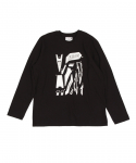 예스아이씨(YESEYESEE) Solid Decal L/S Black