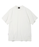 유니폼브릿지(UNIFORM BRIDGE) 10s heavyweight watch pocket tee off white