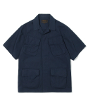 유니폼브릿지(UNIFORM BRIDGE) jungle fatigue short sleeve jacket navy