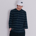 블랙맘바(blackmamba) Hero Stripe 3/4 T-Shirt (Navy)