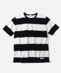 커버낫(COVERNAT) S/S C WIDE STRIPE T-SHIRTS WHITE/BLACK