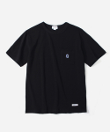 커버낫(COVERNAT) S/S C LOGO POCKET T-SHIRTS BLACK