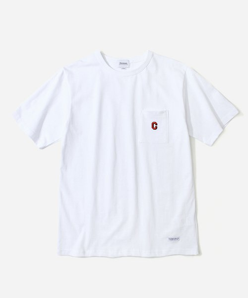 커버낫(COVERNAT) S/S C LOGO POCKET T-SHIRTS WHITE