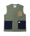 러기드하우스(RUGGED HOUSE) ENGINEER POCKET VEST 카키