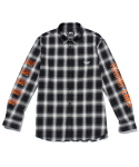 엘엠씨() LMC x PLEASURES MIXED LOGO PLAID SHIRT black