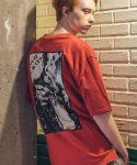 필루미네이트() UNISEX Smoking Printing Tee-RED