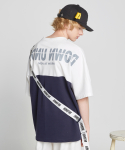 Unique sleeve T-shirts_Navy