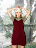 레티켓(L'ETIQUETTE) Alison dress BURGUNDY