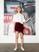 레티켓(L'ETIQUETTE) Anne skirt BURGUNDY