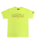 아임낫어휴먼비잉(I AM NOT A HUMAN BEING) [17SS] Arch Ver. Basic Logo T-Shirts - Green Yellow