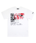 아임낫어휴먼비잉(I AM NOT A HUMAN BEING) [17SS] The Failure is Always on My Side T-Shirts - White