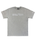 아임낫어휴먼비잉(I AM NOT A HUMAN BEING) [17SS] Retro Reflective Basic Logo T-Shirts - Grey