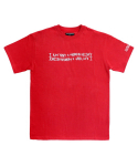 아임낫어휴먼비잉(iamnotahumanbeing) [17SS] Retro Reflective Basic Logo T-Shirts - Red