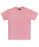 아임낫어휴먼비잉(I AM NOT A HUMAN BEING) [17SS] Retro Reflective Basic Logo T-Shirts - Pink