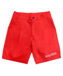 아임낫어휴먼비잉(iamnotahumanbeing) [17SS] Basic Logo Shorts - Red