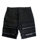 아임낫어휴먼비잉(I AM NOT A HUMAN BEING) [17SS] Basic Logo Front Pocket Shorts - Black